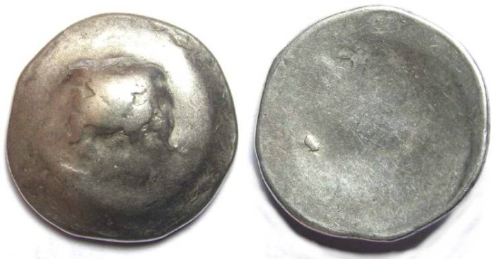 Ancient Coins - Danubian Celtic. ca. 3rd to 2nd century BC. silver tetradrachm - Last of the line.