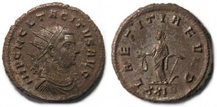 Ancient Coins - Tacitus, AD 275 to 276. Bronze Antoninianus.