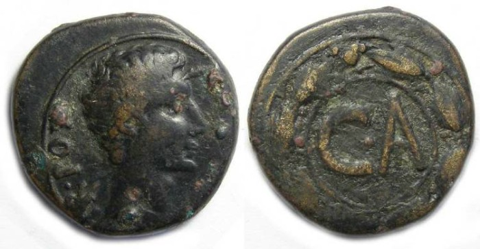Ancient Coins - Augustus. CA coinage of Syria.  ca. 23 BC to AD 1.  AE 23.