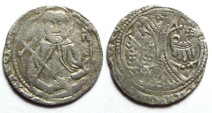 Ancient Coins - Germany, Minden.  Otto III, AD 1384-1398.  Silver Pfennig.
