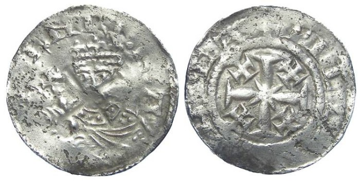 World Coins - English, Henry II, AD 1154 to 1189. Silver tealby penny