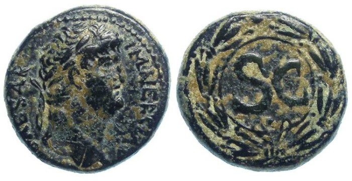 Ancient Coins - Nero, AD 54 to 68. AE 21 from Antioch in Seleucis and Pieria.