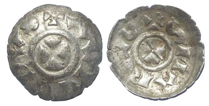 Ancient Coins - Italy, Venice. Orio Malipiero. AD 1178-1192. Silver Quarteruolo.