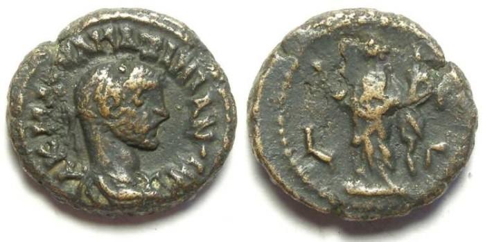 Ancient Coins - Alexandria, Maximianus, AD 286 to 305, potin tetradrachm.