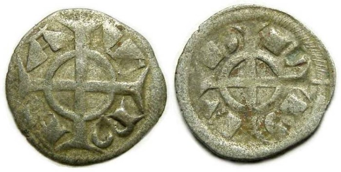 Ancient Coins - Italy, Verona. Fredrick II, 1218 to 1250, billon denaro.