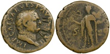 World Coins - VANDAL / OSTROGOTHIC XLII COUNTERMARK ON VESPASIAN AS.