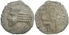 Ancient Coins - Parthia, Vardanes I, AD 40 to 45. Billon tetradrachm.  Dated to AD 44.