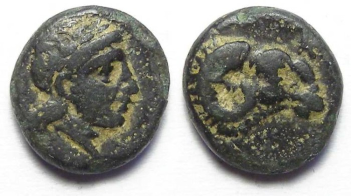 Ancient Coins - Kebren in Troas.  ca. 350 to 310 BC.  AE 10.