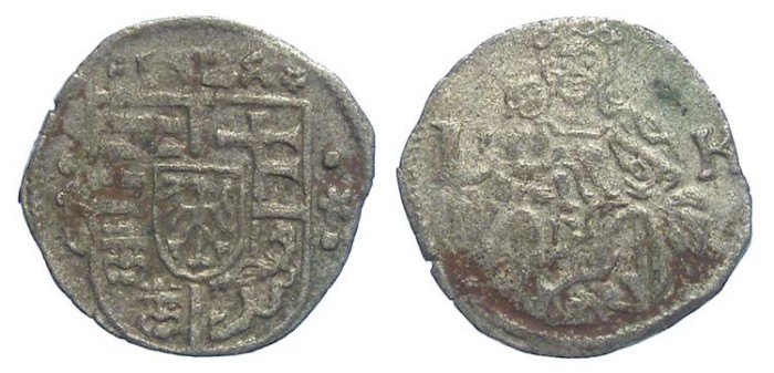Ancient Coins - Hungary. Ludwig II, 1516 to 1526. Billon denar. Dated 1524