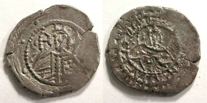 Ancient Coins - Byzantine. John VIII, AD 1423 to 1448. Silver 1/2 hyperpyron.