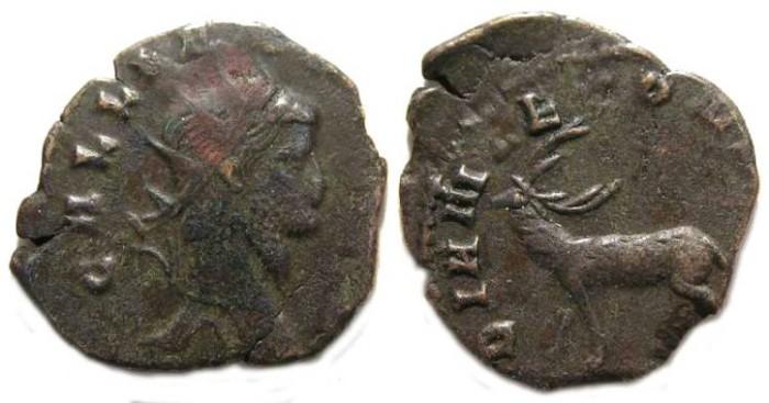 Ancient Coins - Gallienus, AD 253 to 268.  Bronze Antoninianus