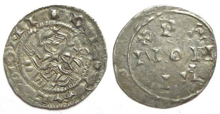 Ancient Coins - Hungary. Salomon.  AD 1063 to 1074. Silver Denar.