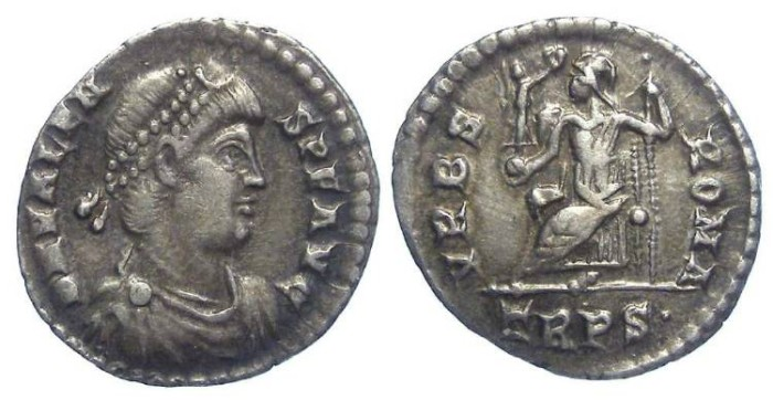 Ancient Coins - Valens. AD 364 to 378. Silver siliqua