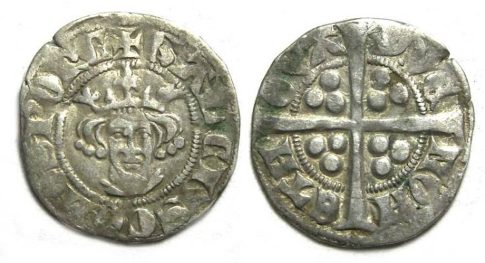Ancient Coins - Low Countries, Florennes.  Gaucher de Chatillon, AD 1312 to 1322.  Silver Esterlin.