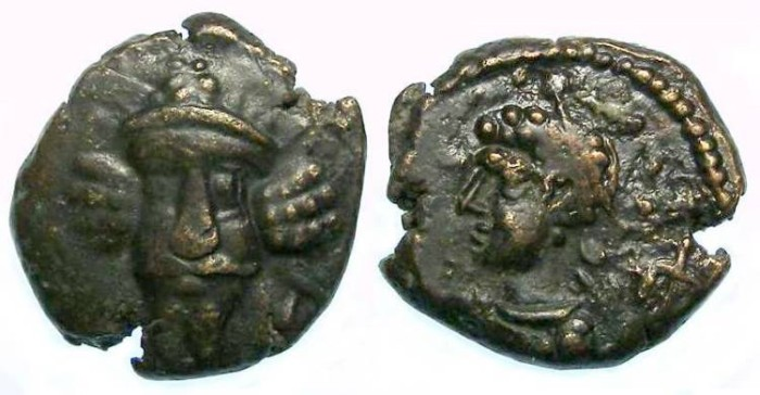 """Ancient Coins - Elymaids. Unknown Prince """"C"""". early 3rd century AD. Bronze drachm."""