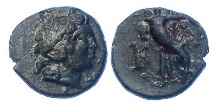 Ancient Coins - Kaunos in Caria. AE 11, 3rd to 2nd century BC.