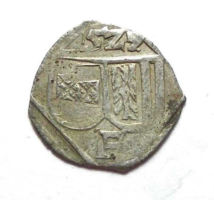 Ancient Coins - Austria, Upper Austria. Ferdinand I, AD 1521 to 1564. Billon Pfennig. AD 1527.