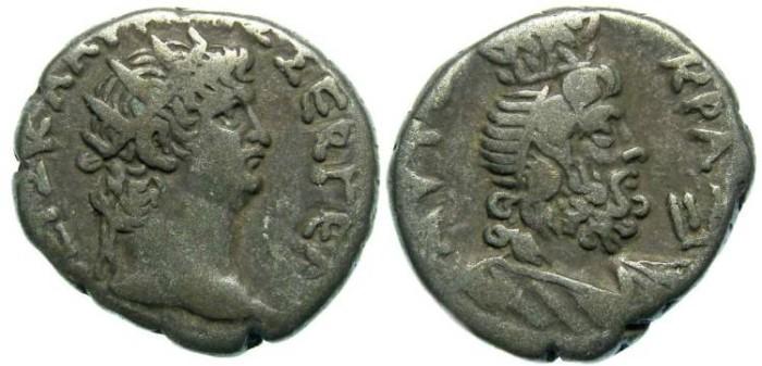 Ancient Coins - Nero, AD 54 to 68. Billon Alexandian tetradrachm.