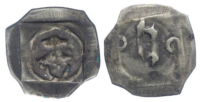 Ancient Coins - Germany, Bavaria-Landshut. Heinrich IV, AD 1393 to 1450. Silver pfennig.