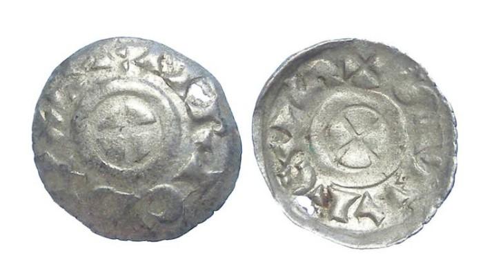 Ancient Coins - Italy, Venice. Enrico Dandolo. AD 1192-1205. Silver Quarteruolo. (HOLED)