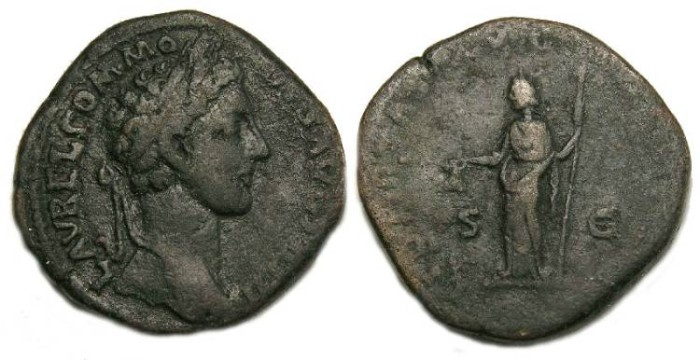 Ancient Coins - Commodus, AD 177 - 192. Bronze sestertius.