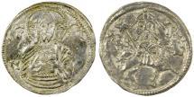 World Coins - Serbia, Stefan Uros IV Dusan as King, AD 1331-1355.  Scarce type.