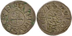 Ancient Coins - Carolingian, King of Aquitaine, Pepin II, AD 839 to 852.