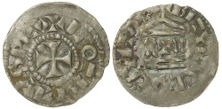 World Coins - Carolingian, Lothaire, AD 954 to 986. King of the Franks.