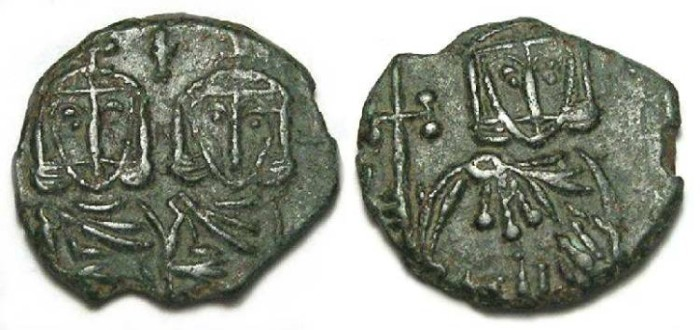Ancient Coins - Byzantine. Constantine V with Leo IV. AD 751 to 775