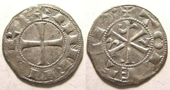 Ancient Coins - Spain, Castile. Alfonso VI, AD 1073-1105. Silver denaro.