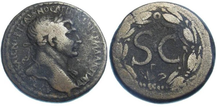 Ancient Coins - Trajan, AD 98 to 117.  AE 27 from Antioch in Seleucis and Pieria.
