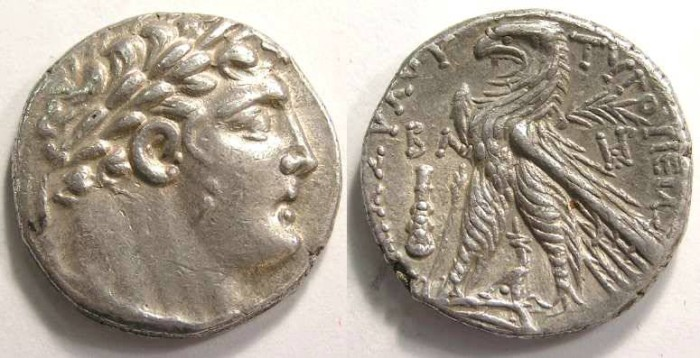 Ancient Coins - Phoenicia.  Tyre silver shekel (30 Pieces of silver type).