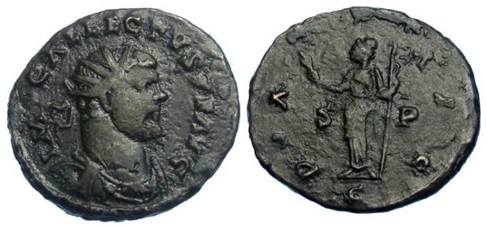 Ancient Coins - Allectus, AD 293 to 296. Bronze Antoninianus.