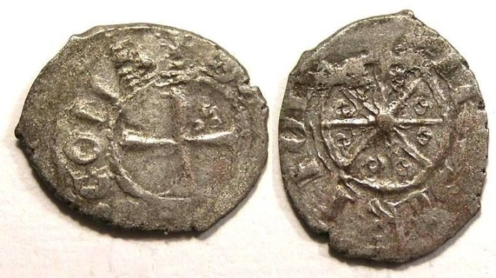 Ancient Coins - Crusaders in Tripoli. Bohemond V or VI, AD 1233 to 1275.