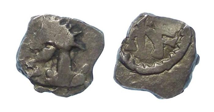 Ancient Coins - Merovingian. Patrician Nemafidius, ca. AD 700 to 710. Silver denier.
