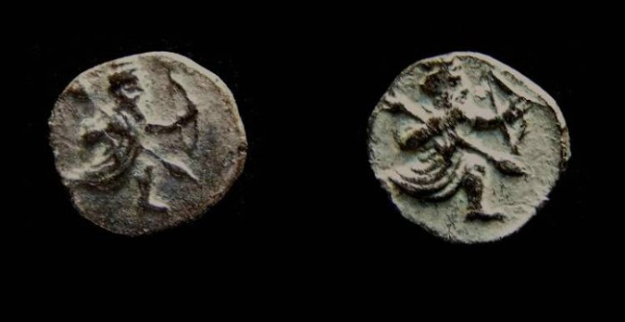 Ancient Coins - Samaria, late 4th century BC. Silver obol.