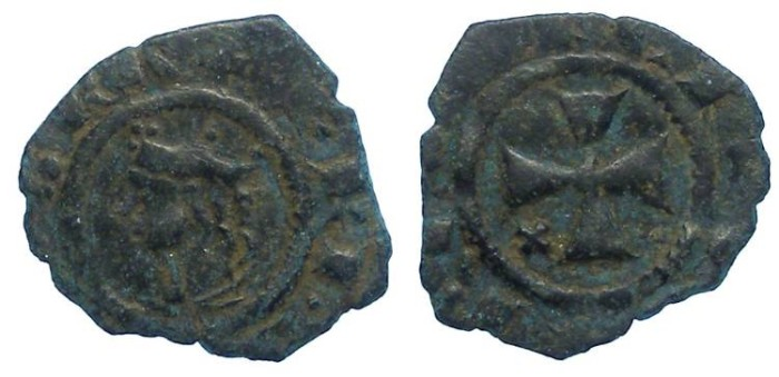 World Coins - Italy. Kingdom of Sicily. Frederick III, AD 1296 to 1337. Billon Denaro.