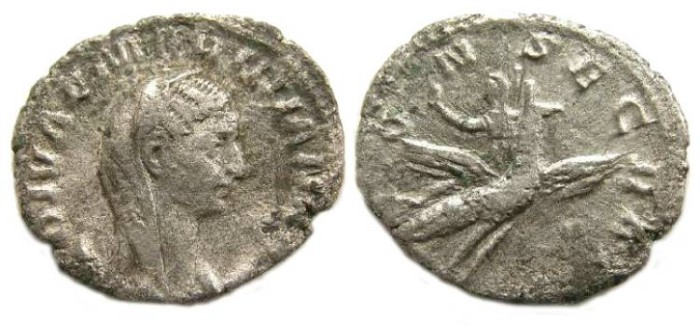 Ancient Coins - Mariniana. Billon antoninianus.  Wife of Valerian I.  ca. 253-254.