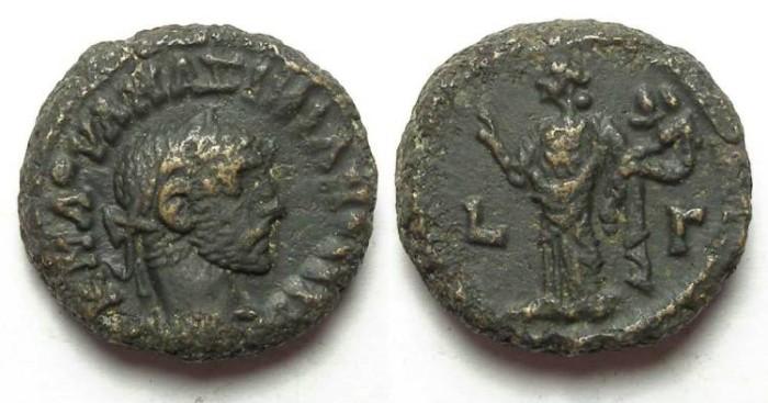 Ancient Coins - Alexandria, Maximianus, AD 286 to 305, Yr-3 potin tetradrachm. 18 mm.