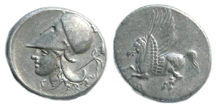 Ancient Coins - Corinth. ca. 350 to 306 BC. Silver stater.