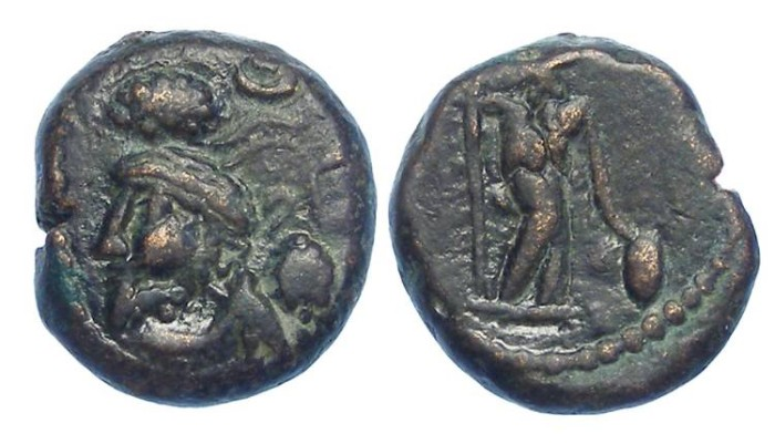 "Ancient Coins - Elymaids. Unknown Prince ""B"". early 3rd century AD. Bronze drachm."
