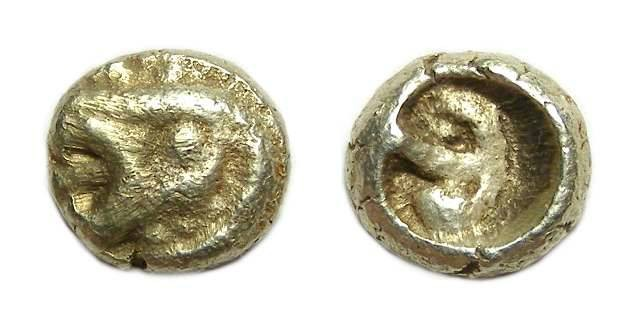 Ancient Coins - Archaic Greek - electrum 1/12 stater. ca. early 6th century BC.