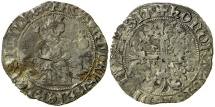 World Coins - Italy, Kings of Naples, Robert (the wise) D'Anjou, AD 1309 to 1343. Silver Gigliato