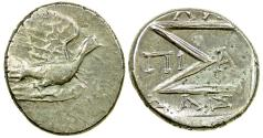 Ancient Coins - Sikyon in Sikyonia. Prior to 146 BC. Silver Hemidrachm..