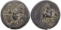 Ancient Coins - SOLI-POMPEIOPOLIS IN CILICIA.  CA. 2ND TO 1ST CENTURY BC. AE 24