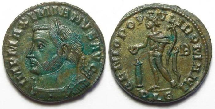 Ancient Coins - Maximianus, AD 286 to 310. AE follis.