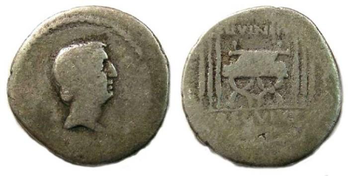 Ancient Coins - Roman Republic. L. Livineius Regulus. ca. 42 BC.