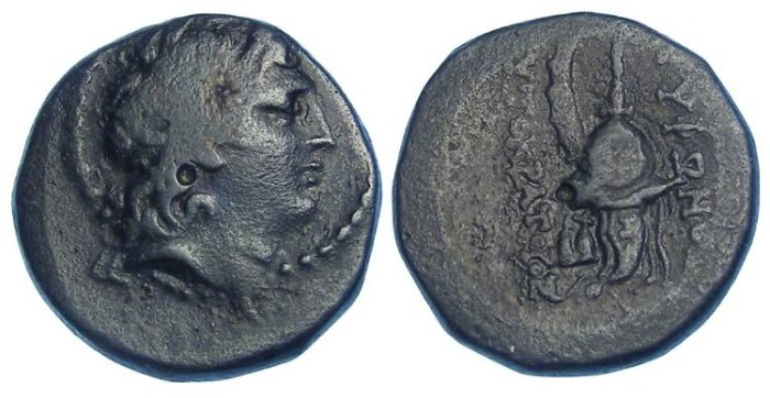 Ancient Coins - Seleukid Kingdom. Tryphon, 142 to 138 BC. AE 18