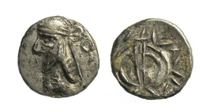 Ancient Coins - Kingdom of Persis. The Unknown King, 1st century BC. Silver hemidrachm.