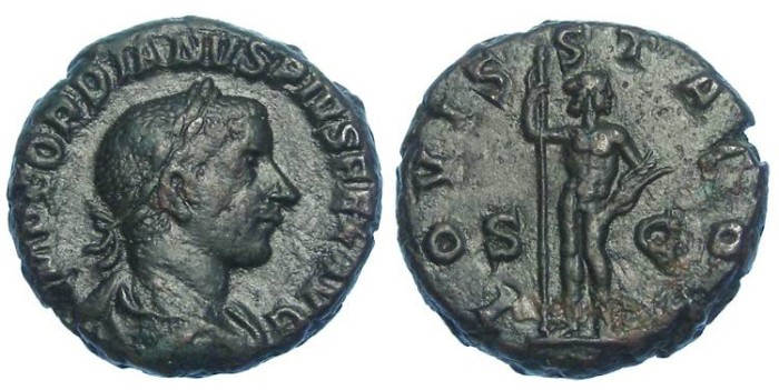 Ancient Coins - Gordian III, AD 238-244. Bronze AS.